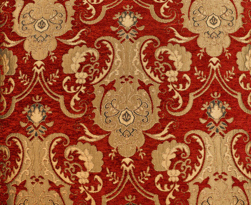 Fabric Chenille Jane 1 Red