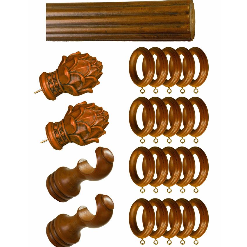 Hardware Set Of Curtain Drapery Rod 1 3 8 76 Wood Rasin